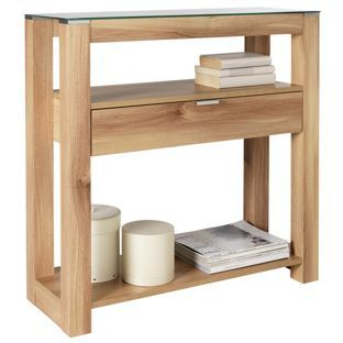 Buy Hygena Cubic Console Table - Oak Finish at Argos.co.uk, visit Argos.co.uk to shop online for Occasional and coffee tables, Console tables