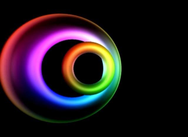Metallic torus animation in modified affine space.