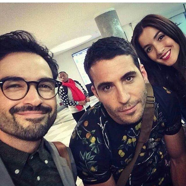 Alfonso Herrera, Miguel Ángel Silvestre y Erendira Ibarra en Brasil para las grabaciones de la segunda temporada de sense 8