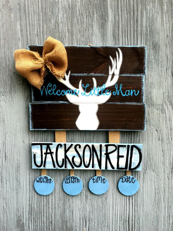This baby door hanger measuring 2ft long and varies with height depending on which one you purchase. I can customize this deer anyway you would like! Its my biggest door hanger in my shop, and I had lots of fun making it! When orders please be specific on what you would like in the notes to seller box. If I have any questions, Ill be sure to contact you as soon as possible!  This door hanger is made to order!       *All my signs/door hangers are painted with acrylic paint, sealed with ac...