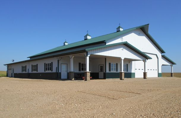 Pole Barn House and Shop - Lester Buildings Project #: 512458