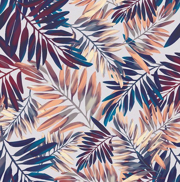 """Tropical Leaves"" on Behance - elisa passino"