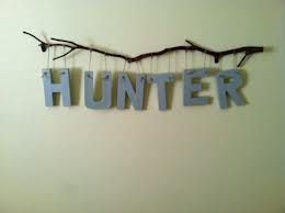 Obviously not the name, but cute sign idea for our new baby boy when we pick a name! :)