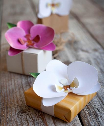 origami flower present topper