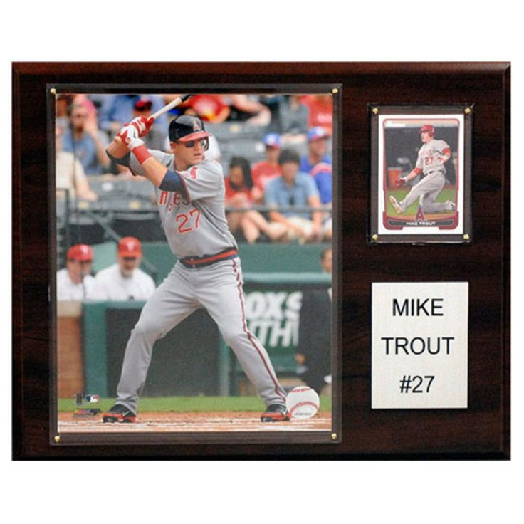 C and I Collectables MLB 15W x 12H in. Mike Trout Los Angeles Angels Player Plaque - 1215TROUT