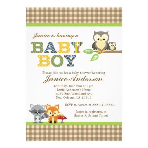 36 best owl baby shower invitations images on pinterest baby woodland owl baby shower invitation boy filmwisefo
