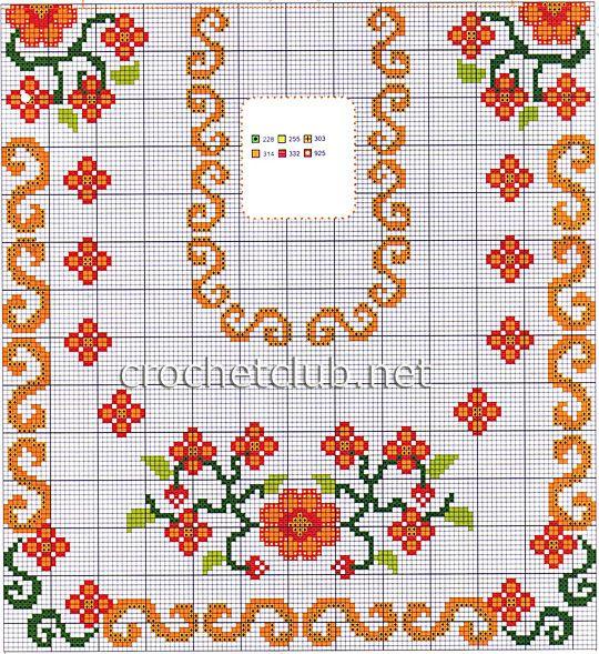 скатерть с оранжевыми цветами 2