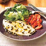 Baked Flounder with Herb-Caper Butter Recipe | MyRecipes.com