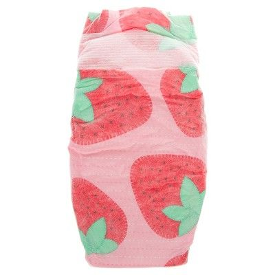 Honest Company Diapers Club Box Strawberries and Painted Feathers - Size 4 (60 ct), Strawberries/Painted Feather