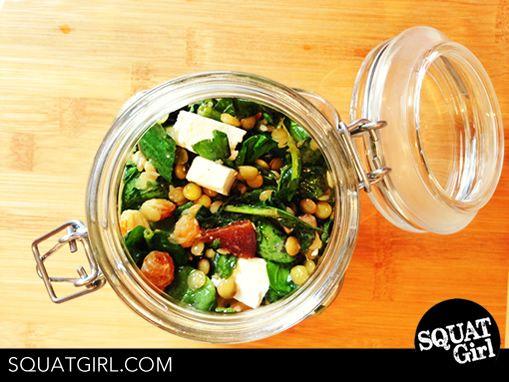 #squatgirl #lunchbox #summersalad #lentilsalad #highprotein #diet #healthyfood #cleanfood #fitnessfood #beachbody