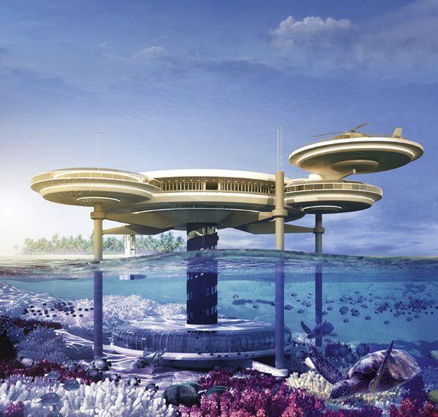 El novedoso hotel submarino Water Discus Underwater Hotel