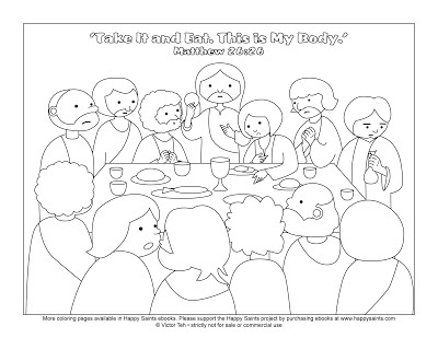 coloring page of the last supper easter free colors coloring pages