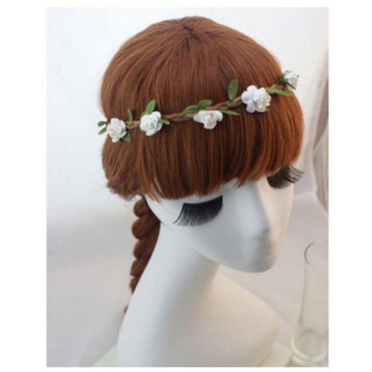 Women Bohemia Beach Flower Hair Bands Headband Hair Accessory Headwear Hippie Love Garland Festival Wedding Hair Wreath  360500