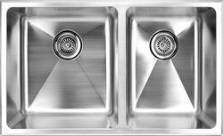 """fluid Model TDR3219 (1 3/4) Top Mount Double Bowl Stainless Steel Kitchen Sink - Overall size 32"""" X 19"""" X 9"""""""