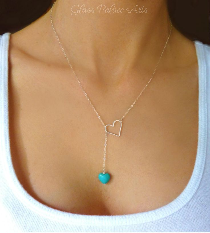 Adds an inspirational touch to any outfit... - A gorgeous and bright 10mm turquoise heart shaped stone makes this necklace look dainty and feminine - Chain is a shimmery and light 14k gold filled or s