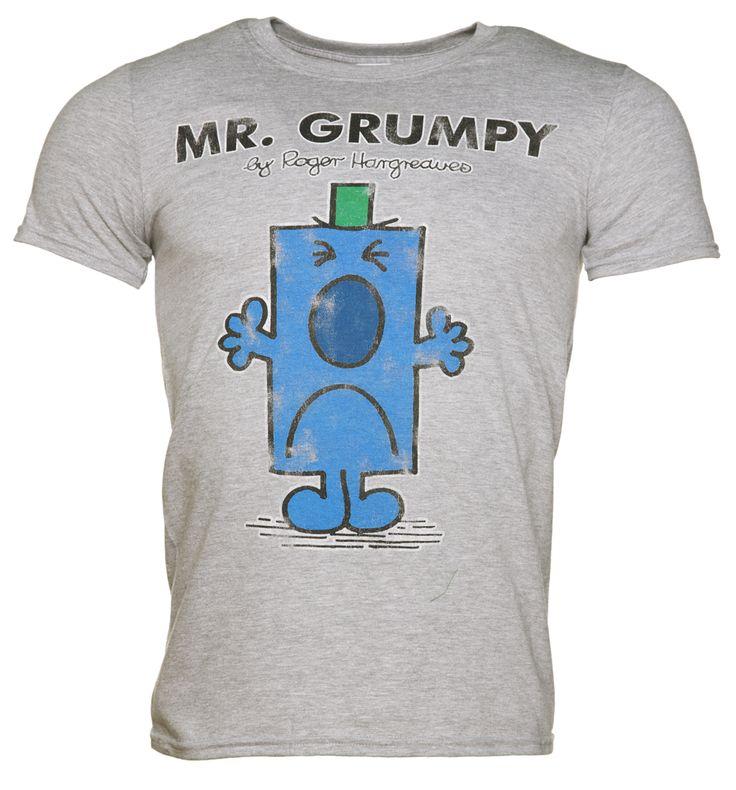 TruffleShuffle Mens Grey Mr Grumpy Mr Men T-Shirt We are delighted to have this awesome collaboration with Roger Hargreaves made available exclusively by TruffleShuffle! Warn the world of your grumpy ways, with this classic Mr Grumpy T-Shirt, a must  http://www.MightGet.com/february-2017-3/truffleshuffle-mens-grey-mr-grumpy-mr-men-t-shirt.asp