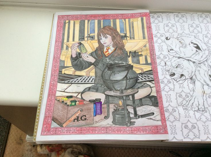 harry potter colouring book - Harry Potter Coloring Books