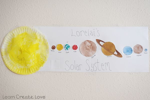 easy solar system craft printable - photo #24