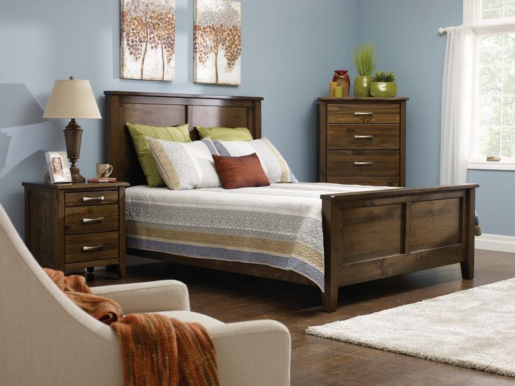 Made from pine, this smokey taupe bedroom set will spice up your bedroom!