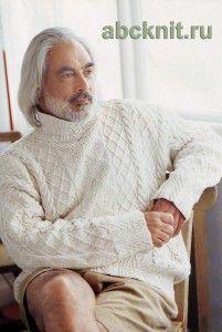 """Белый свитер с аранами """"Патрик"""""""