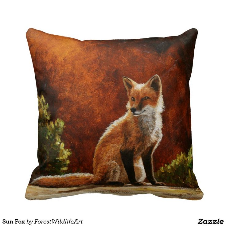 Sun Fox Throw Pillows