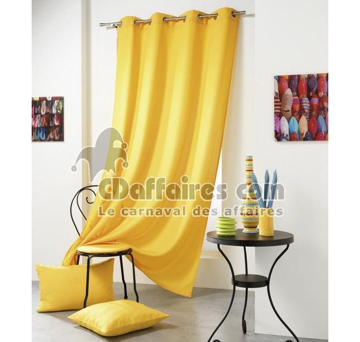 Rideau 140x240 cm polyester House jaune