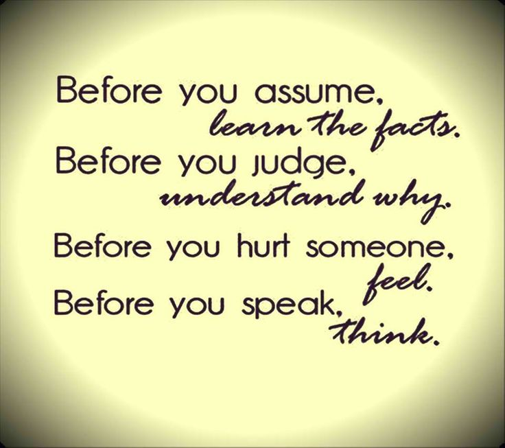 039 Think Before You Judge