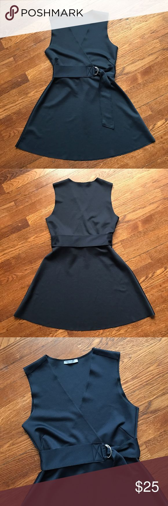 "Zara Mod Dress Cute super excellent condition Dress! Measures 32"" in length with a mod styled waist belt and raw hem.  • No Trading  • Reasonable Offers are Always Welcomed  • Ask Me For an Outfit Bundle Discount Zara Dresses"