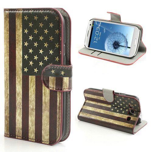 Amerikaanse vlag bookcase hoesje voor de Samsung Galaxy S3