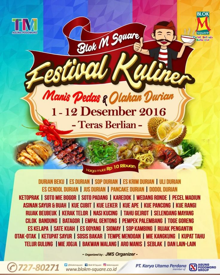 Blok M Square Festival Kuliner http://www.perutgendut.com/read/blok-m-square-festival-kuliner/4140 #Food #Kuliner #Event