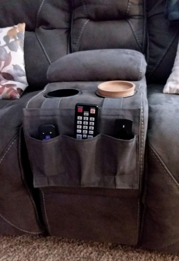 TV remote caddy made quickly with scrap material.  Not fancy but functional!