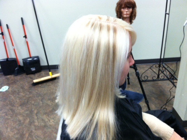 Platinum Blonde With A Few Lowlights In The Top By Bill Hair
