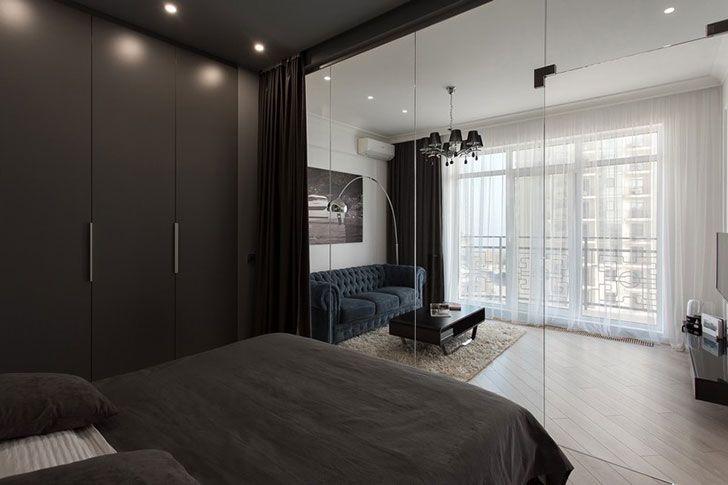 Небольшая квартира со стеклянным кубом в Одессе (50 кв. м) | Пуфик - блог о дизайне интерьера