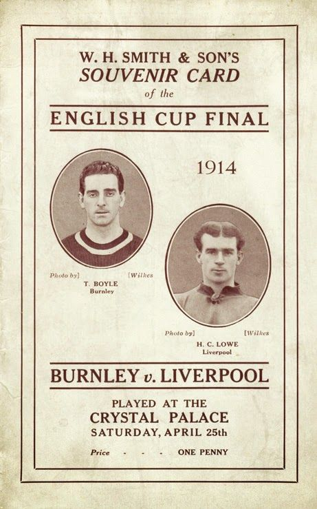 1914 FA Cup Final Programme