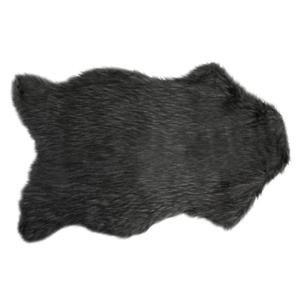 Tapis peau de bête imitation fourrure Ours - Couleur principale : Noir - Achat / Vente tapis - Cdiscount