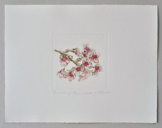 Japanese cherry Prunus serrulata  handmade by AtelierPoltorak