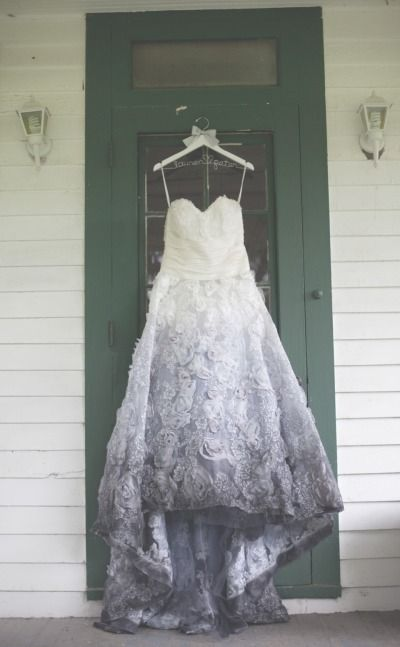 Ombre wedding dress: http://www.stylemepretty.com/missouri-weddings/st-louis/2014/04/17/diy-farm-wedding/ | Photography: Moondance Photography - http://www.moondancephotography.org/