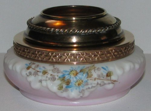 Signed Wave Crest C F Monroe Hair Receiver Pin Dish Powder Jar