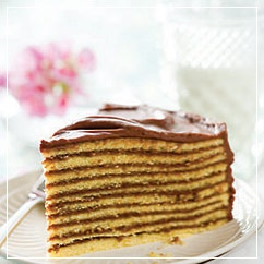 The Smith Island Cake Traditionally A 9 Layer Vanilla With Chocolate Icing Is