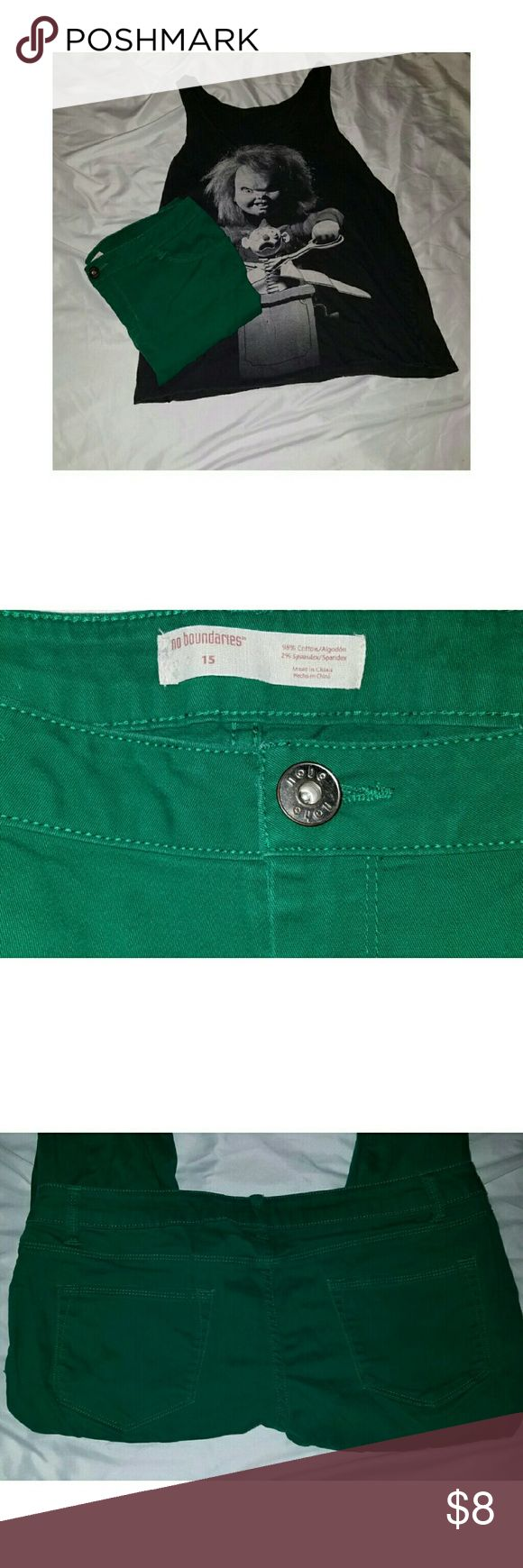Forest green pants No boundaries juniors size 15 forest green skinny jeans. In perfect condition No Boundaries Pants Skinny