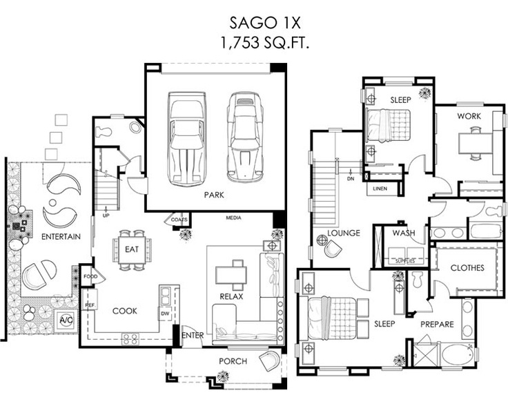 17 best images about floorplans we love on pinterest 3 for Completely open floor plans