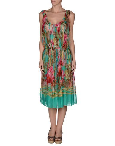 ¡Cómpralo ya!. VDP BEACH Vestido de playa mujer. encaje, velo, plisado , strass, logotipo, estampado floral, cierre con cremallera y corchete, interior forrado, sin bolsillo , vestidoinformal, casual, informales, informal, day, kleidcasual, vestidoinformal, robeinformelle, vestitoinformale, día. Vestido informal  de mujer color verde de VDP BEACH.
