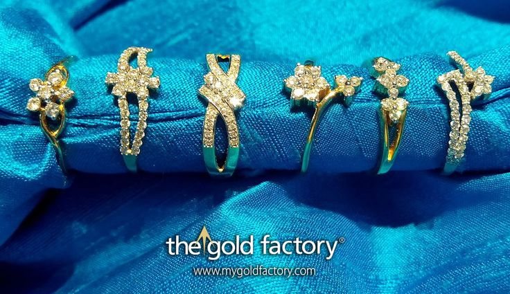 Rings of every kind set with precious diamonds and crafted in 18K gold. Look at the variety, check out the amazing prices, and choose the one that you want. It's all happening at The Gold Factory in this, the Month of Love. Diamond ear tops set in 18K gold. Stunning designs, lustrous diamonds and unbeatable prices combine to give you the best-of-its-kind collection this season. Come, celebrate The Month of Love with us, in bright beautiful diamonds.