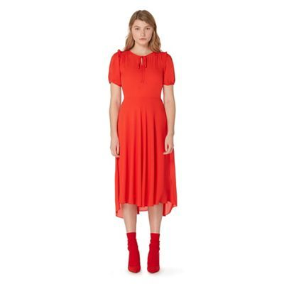 Studio by Preen Red ruffled tea dress | Debenhams