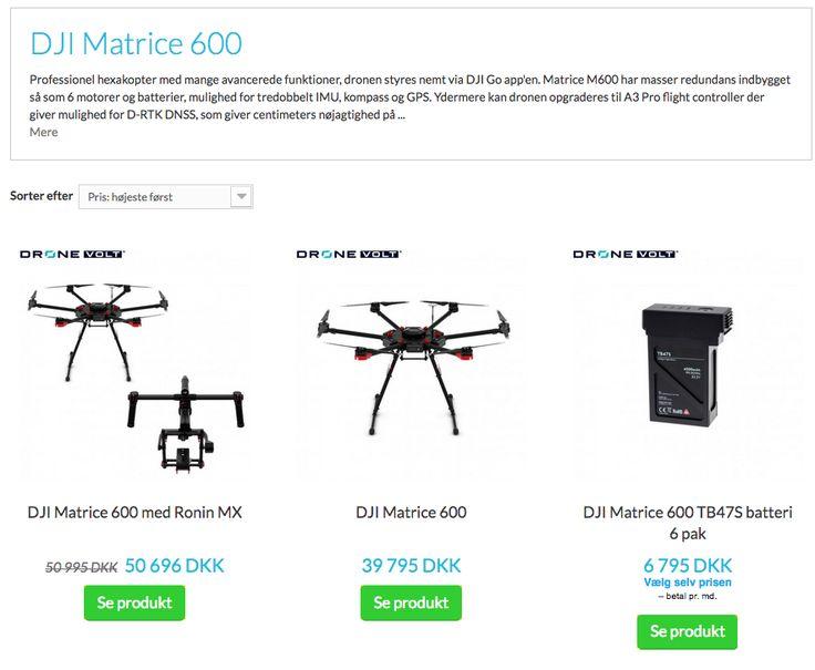Køb DJI Matrice 600 drone hos Dronevolt. Gode priser og tilbud på alle slags DJI droner. #DJIMatrice600 #DJI #Matrice600 #droner #drone #drones #Dronevolt