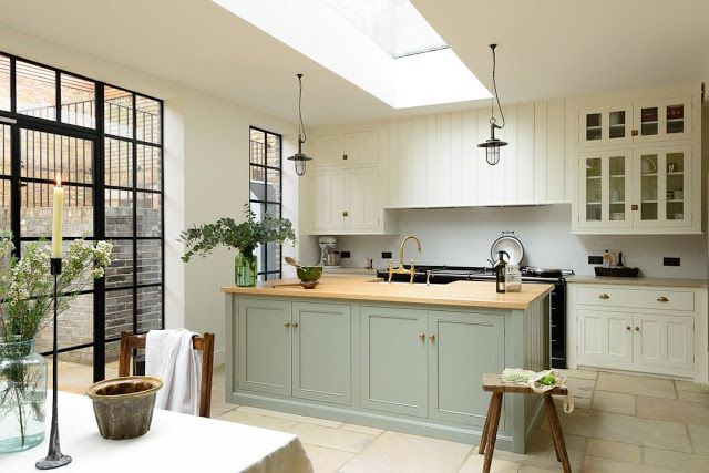 Mix of old and new Modern Country kitchen