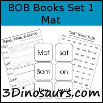 Early Reader Printables: BOB Books: Set 1 Book 1 Mat