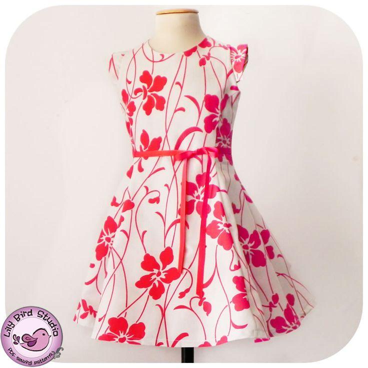 Juliette's Dress - 2-10Y- PDF Pattern and Instructions - paneled dress, open back, petticoat. $7,90, via Etsy.