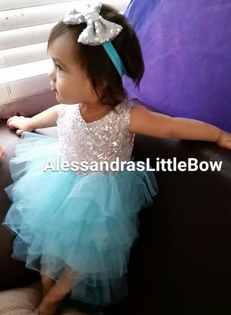 blue and silver sequin dress frozen birthday frozen outfit frozen dress flower…
