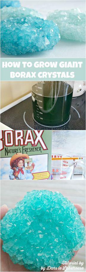 How to grow giant borax crystals